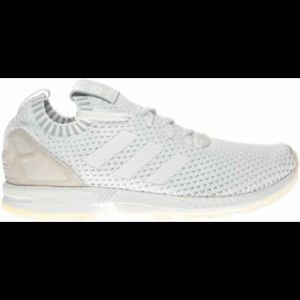 cheap for discount 53be5 748fb Adidas ZX FLUX All White Sneakers